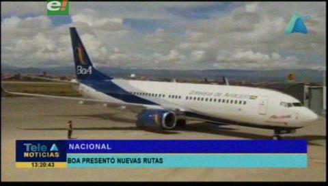 Rurrenabaque y Lima son las nuevas rutas de BOA