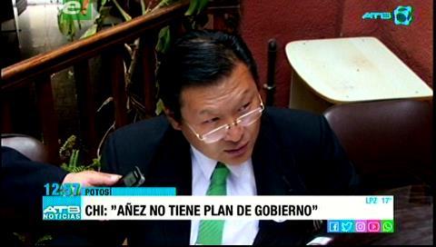 Chi asegura que Jeanine Áñez no tiene plan de gobierno