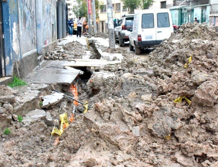 Varias zonas fueron afectadas por las lluvias.