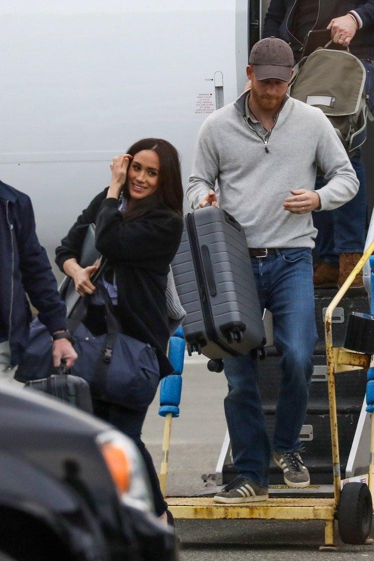El príncipe Harry y Meghan Markle en su llegada a Canadá /The Grosby Group