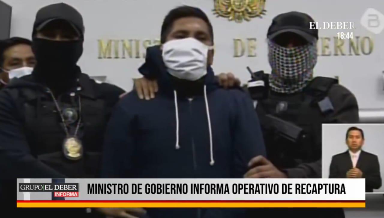 Detienen a excapitán que ayudó en la fuga de reo brasileño por $us 70.000