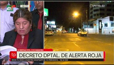 Cochabamba decreta alerta roja por Covid-19