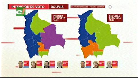 ¿Cómo quedaría el mapa de Bolivia tras la segunda encuesta?