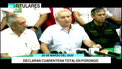 Video titulares de noticias de TV – Bolivia, mediodía del viernes 20 de marzo de 2020
