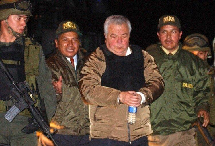 Gilberto Rodríguez Orejuela, excapo del Cartel de Cali, cuando fue extraditado a los Estados Unidos en 2004.