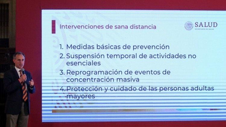 Estas son las medidas básicas para la Jornada Nacional de Sana Distancia, donde se incluye un espacio importante para los adultos mayores (Foto: Galo Cañas/ Cuartoscuro)