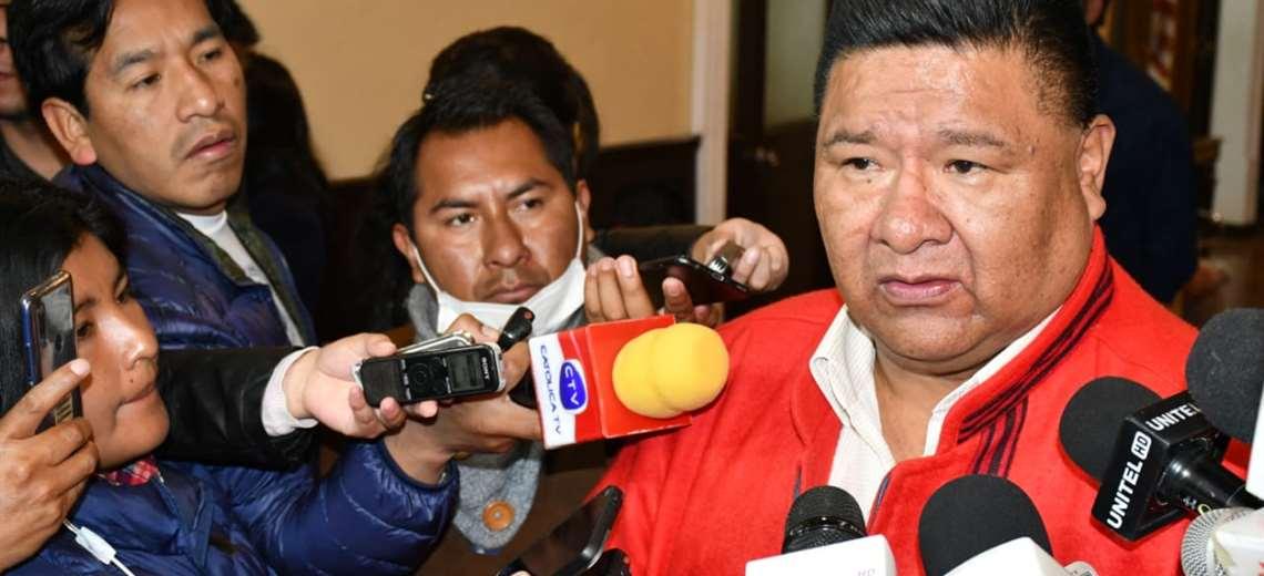 El legislador en contacto con medios I Foto: Diputados.