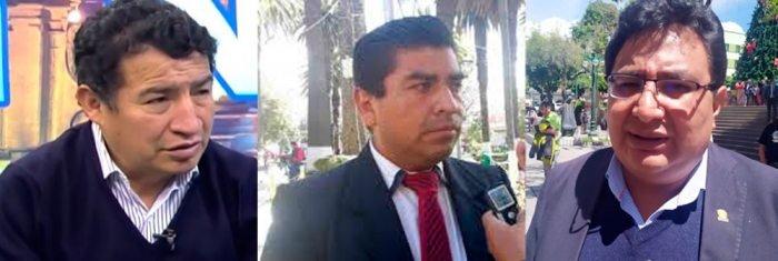 Diputado Víctor Borda, diputado Norman Lazarte y diputado Amílcar Barral.