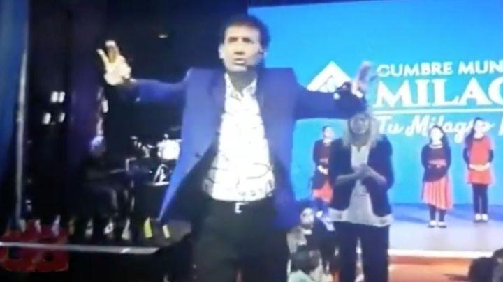 Indignación con el pastor Giménez: ofreció alcohol en gel por $1.000 a sus fieles