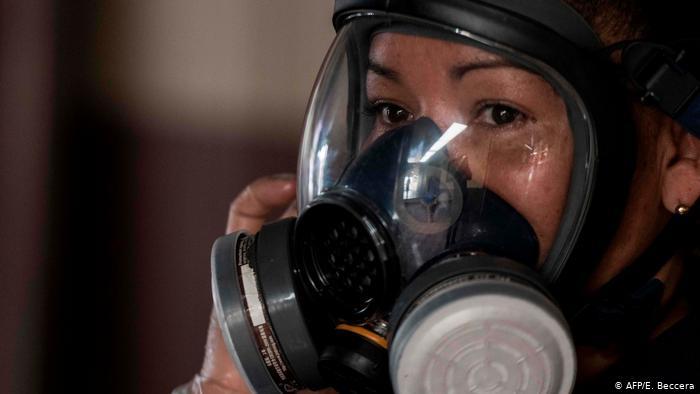 Coronavirus in Costa Rica Frau mit Schutzmaske (AFP/E. Beccera)