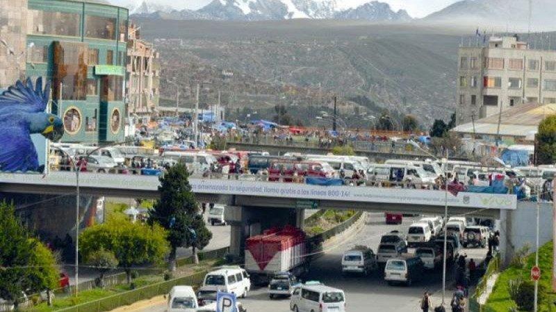 Vista general de la Ceja, en El Alto.