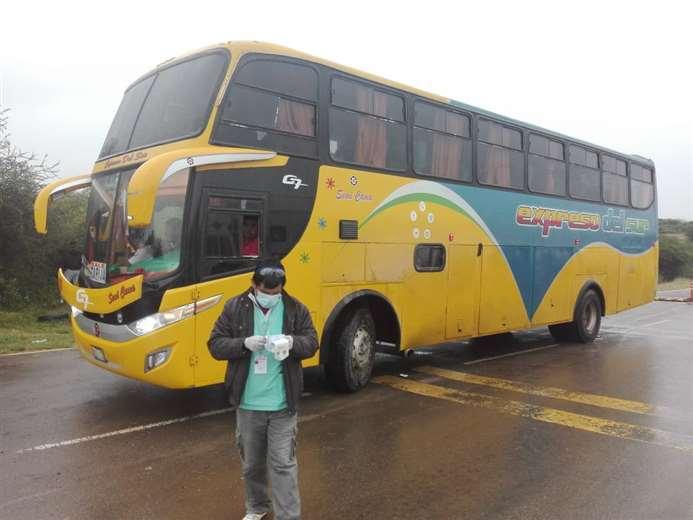 Controles a buses en Tarija