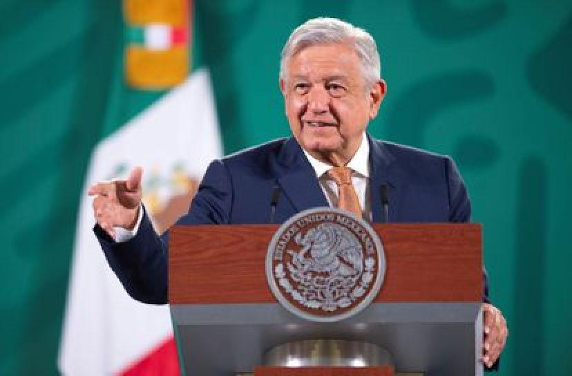 El presidente de México, Andrés Manuel López Obrador, este lunes durante su conferencia de prensa matutina.