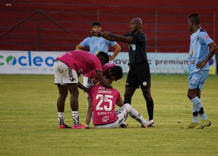 El 2 de marzo se lesionó Carrasco. Fue en su debut con Independiente del Valle.