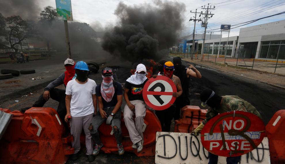 Protestas en Cali contra las políticas económicas de Duque y la violencia policial