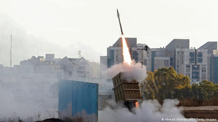 Misil del sistema israelí de defensa Iron Dome.