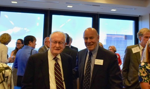 Judge Gibbons (left) with Michael Griffinger, Director of Business & Commercial Litigation at Gibbons P.C.