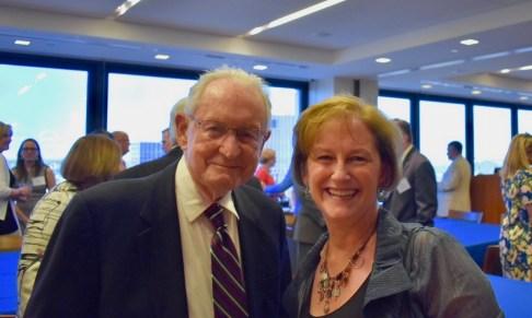 Judge Gibbons with former clerk Virginia Hardwick