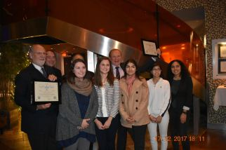 Student members of the Kean University Human Rights Institute pose with Governor Corzine and Senator Lesniak