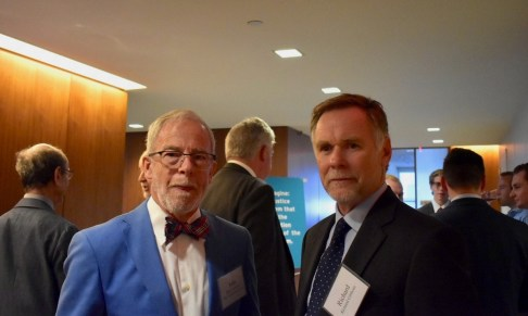Judge Gibbons' son, Richard Gibbons (right), with John Cornwall, Trustee with the Fund for New Jersey