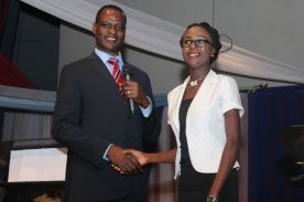 Mr Taiwo Oyedele of PwC and the representative of OAU (third)