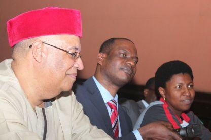 L-R Mark Abani, Taiwo Oyedele and Mrs Fadahunsi