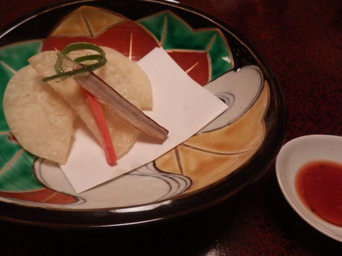 岩惣 夕食 揚げ物