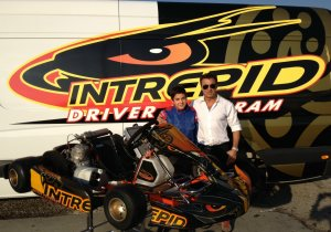 Jean Alesi and son Giuliano test with Intrepid Driver Program