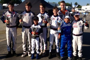 The SH Karting squad returned home from Karting Grand-Mère with a bevy of hardware after taking four wins and four additional podiums in the third round of the Coupe du Quebec (Photo credit: SH Karting)