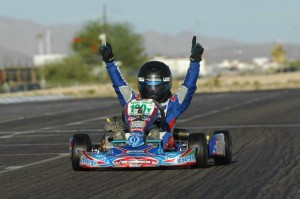 Chase Farley was a double winner in TaG Cadet at the SpringNats (Photo: On Track Promotions - otp.ca)