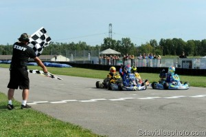 It was a photo finish in Yamaha Cadet with Giovanni Bromante edging out Neil Verhagen (Photo: DavidLeePhoto.com)
