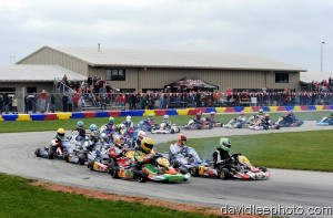 Karters from all across the country will once again battle for 200 laps around the New Castle Motorsports Park on October 27 (Photo: DavidLeePhoto.com)