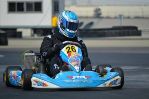 Starting second gave Navatel a great opportunity to win the prefinal en route to the main event victory (Photo: Joe Stalker - LAKC)