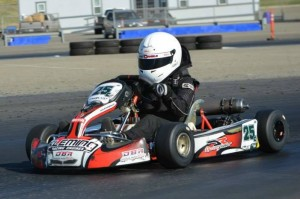 Joseph Daniele made a late race pass in both the prefinal and final to score top honors in TaG Cadet (Photo: Joe Stalker - LAKC)