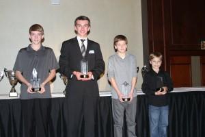Triple and double class winners (L to R) Brandon Lemke, Collin Griffin, Becker Reardon and Mark Fineis (Photo: Joe Brittin)