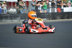 Dane Idelson had an up and down day in Honda Kid Kart that saw him leave with an impressive main event win (Photo: LAKC.org)