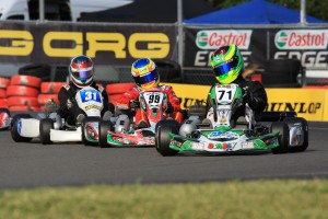 Dylan Hollis leading William Brown and Jayden Ojeda in Junior National Light (Pic: Coopers Photography)