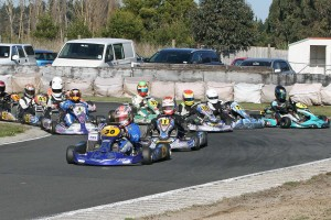 Dylan Drysdale leading Arai Rotax Junior (Photo: Fast Company/Graham Hughes)