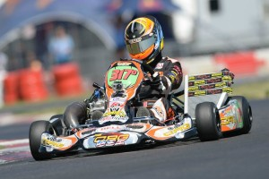 Sabré Cook earned two podium finishes at the Texas ProKart Challenge, only to run into bad luck at the SKUSA SpringNationals (Photo: On Track Promotions - otp.ca)