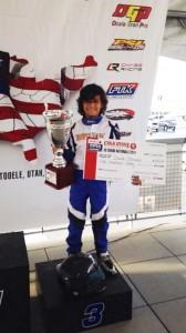 David Morales scored a podium result for BENIK Kart at the Cold Stone US Grand Nationals (Photo: Benik-Kart.com)