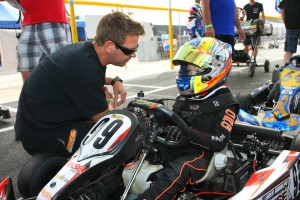 Rudolph has transitioned to a karting dad, as son Aden is now racing (Photo: SeanBuur.com)