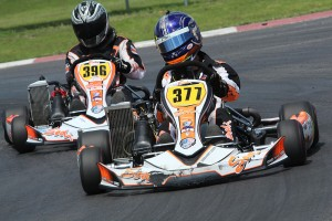Connor Ford (#377) and Thomas Beaudoin (#396) split the wins in Rotax Senior (Photo: Dreams Captured Photography)