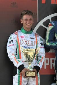 Kalish celebrating his first SKUSA Fikse Wheels Pro Tour podium finish (Photo: EKN)