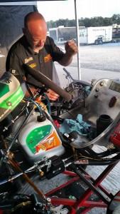 Scott Kalish preparing Kyle's Franklin Motorsports Merlin with SwedeTech power (Photo: K Kalish)