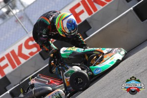 Contact with the barriers started off the SuperNationals for Kalish (Photo: On Track Promotions - otp.ca)