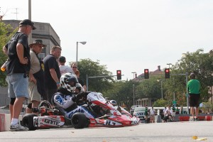 Waiting for the Ignite heat race to begin at the historic Rock Island Grand Prix