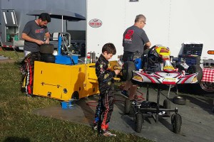 Three generations of Gafrarars were in the pit area at Daytona, with both Chuck and his son Caleb on-track as part of the action