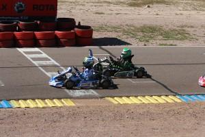 A last lap pass gave Carson Morgan his first Micro Max victory (Photo: EKN)