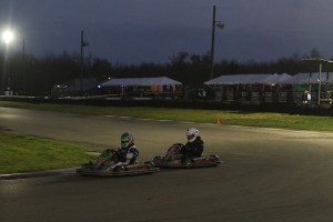 Shannon taking on turn one under night conditions (Photo: Perry Herndon)