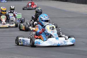 Kristian Valdez won the Open Shifter category at Round Three (Photo: Kart Racer Media)